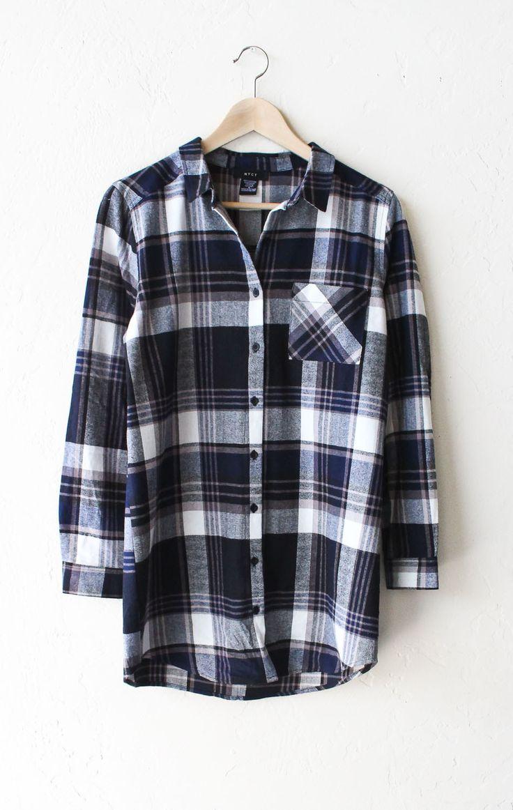 Oversized Plaid Flannel Shirt