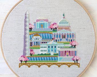 Pretty Little Los Angeles Modern Cross Stitch by SatsumaStreet