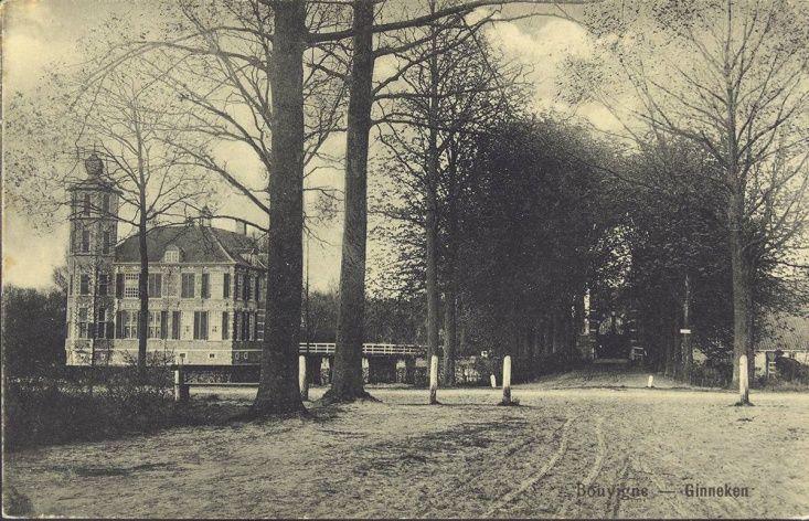 Breda - Het kasteeltje Bouvigne, gezien vanuit de Bouvignedreef, rond 1905-1915