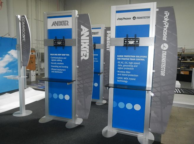 Trade Show Booth Kiosks : Images about trade show booth rental ideas on