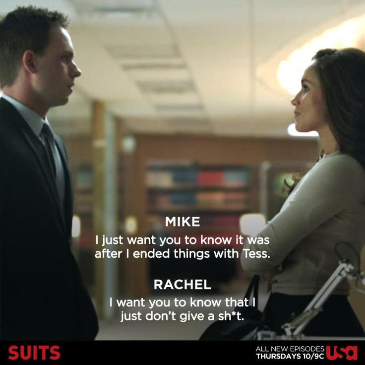 Oh guys will ya just do it already ... Rachel and Mike #suits Suits USA
