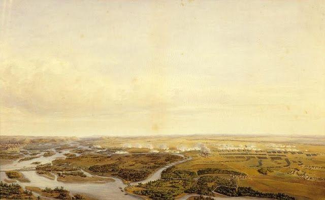 Vue panoramique de la bataille de Wagram, première journée, 5 juillet 1809 à 8 h. du matin- Jean Antoine Simeon FORT