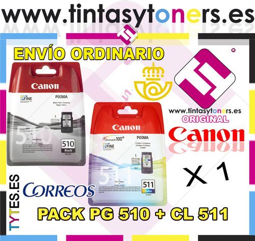 PACK CARTUCHO TINTA BLACK COLOR CANON ORIGINAL PG 510 CL 511 PIXMA MP 230 240