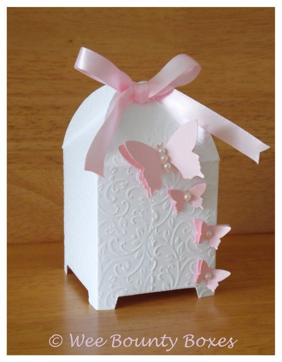Floral Butterfly Birdcage Wedding Favour Boxes by WeeBountyBoxes