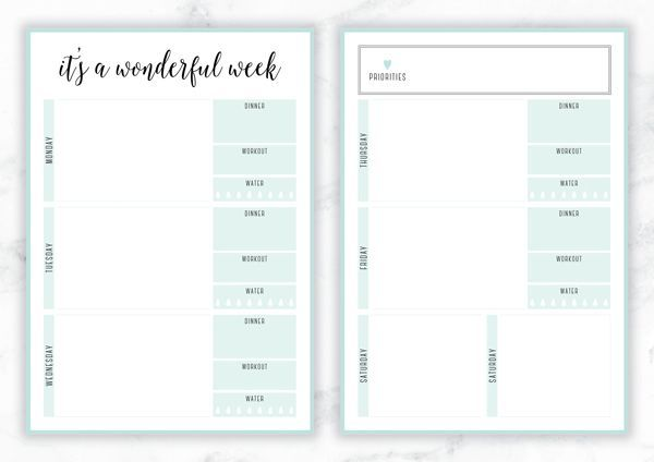 FREE PRINTABLE IRMA WEEKLY PLANNERSYOU MAY ALSO LIKE