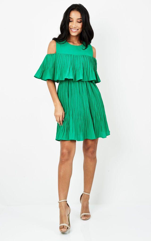 Vera Cold Shoulder Layered Dress - SilkFred