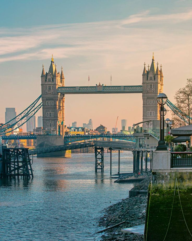 """Good morning London! A shot of the lovely Tower Bridge taken from the South bank of the Thames•"""""""