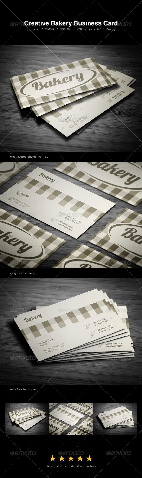 The 25+ best Bakery business cards ideas on Pinterest | Bakery ...