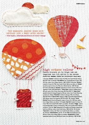High Octane Colour - HotelHome concept fabric SIAM in colours Pumpkin and Paprika as featured by Vanessa Colyer Tay, INSIDE OUT magazine Nov/Dec 2012.