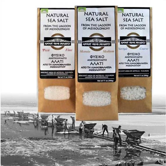 100% Natural raw sea salt of Messolonghi Greece from ANCIENT