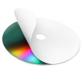 Mediarange CD/DVD/Blu-ray Label Neato kompatibel, hvid, 15-118 mm, 100 Stk