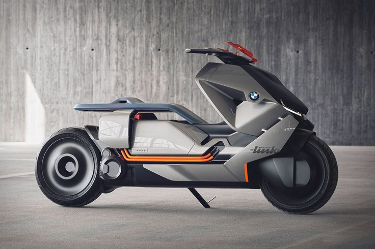 Inspired by the Vision Next 100, the BMW Motorrad Concept Link is a complete rethink of two-wheeled urban mobility. At its core is an E-drive system, with flat battery packs in the floor and a compact motor on the rear...