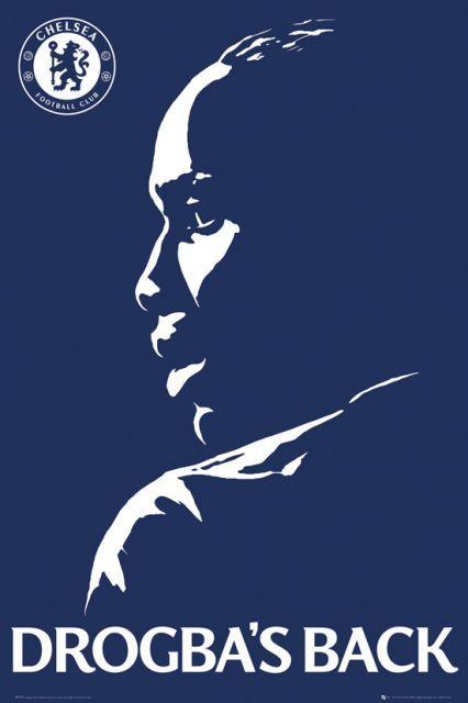 Chelsea Londyn Powrót Drogby - plakat - 61x91,5 cm  Gdzie kupić? www.eplakaty.pl