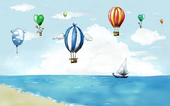 Summer Fairyland - Artistic Summer Scene Illistrations  - Summer Fiaryland - Fantasy Summer Beach Illustration 1920*1200 1