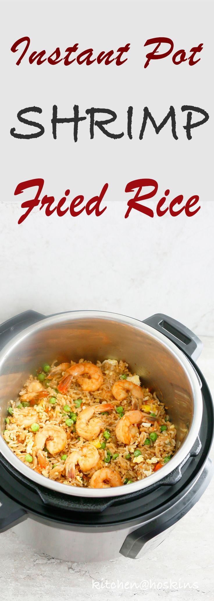 Instant Pot Shrimp Gebratener Reis