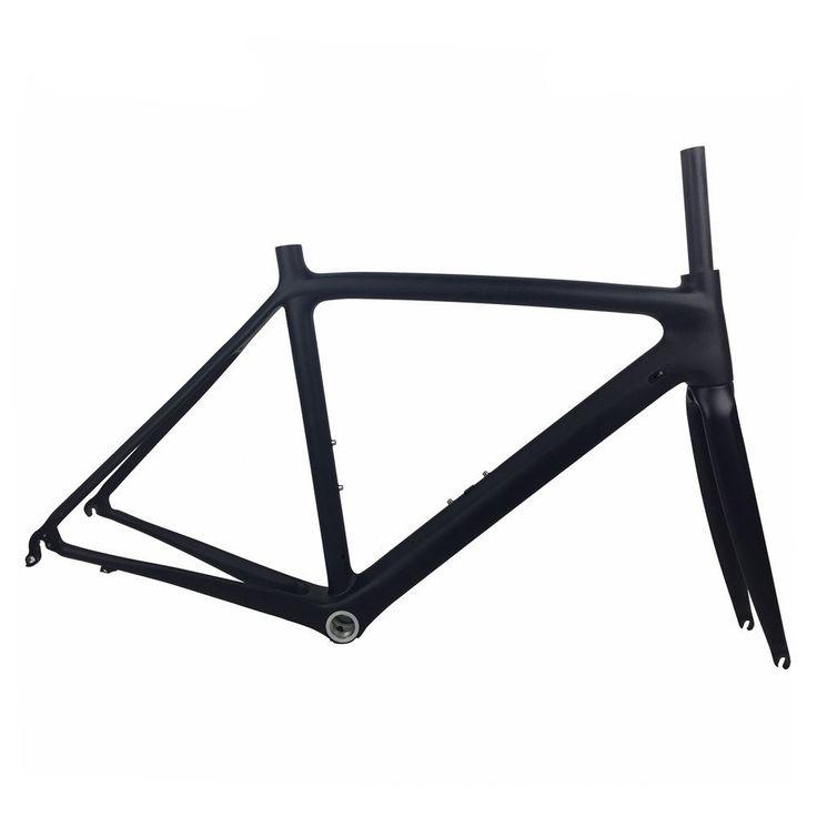 Super light 700C Carbon Road Bike Frame UD Full Carbon Di2 and Mechanical Road Frame Racing Bicycle Frameset Size 50/53/55cm (50cm). Material:Toray T800 full carbon fiber. Frameset:Frame+Fork+ Clamp +Headset. Frame Size:50/53/55cm. Weight:930 +/- 50 g(50cm Frame). Bottom Bracket:BSA.