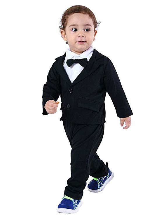 679728c39 Abolai Baby Boys Gentleman Sets Blazer and Pant and Long Sleeve ...