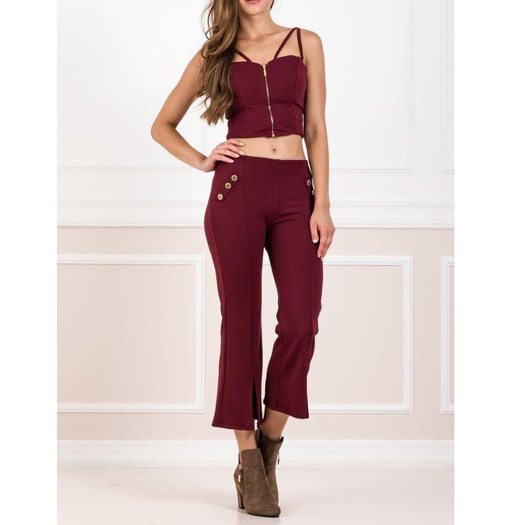 Παντελόνι #culottes με crop top μπούστο για εντυπωσιακές εμφανίσεις.Δείτε τα στο e-shop www.primadonna.com.gr