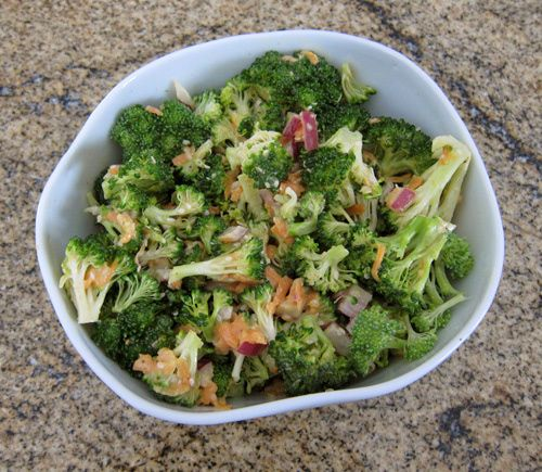Broccoli Salad with Miso Dressing | Salads | Pinterest