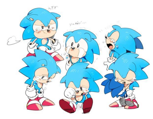 Classic Sonic So Cute When He Crying Sonic The Hedgehog Sonic Classic Sonic