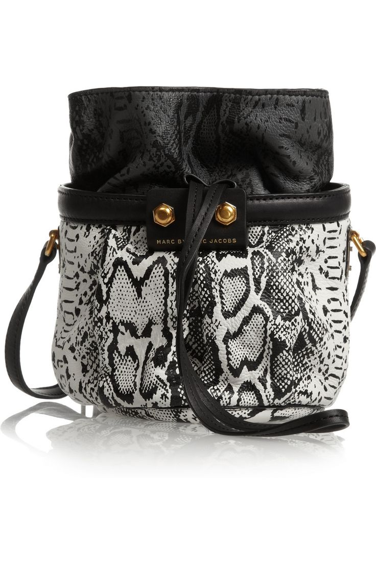 Marc by Marc Jacobs | Lexi Makes Friends Jen snake-print leather bucket bag | NET-A-PORTER.COM