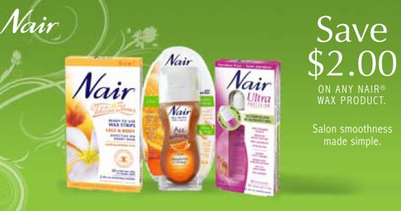 Save $2 Coupon On ANY Nair Wax Product