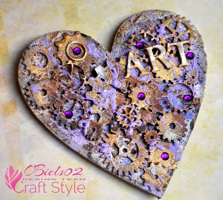 OBiels02 by Craft Style - steampunk heart altered art mixed-media