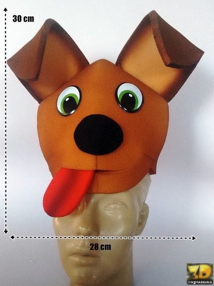 chapéu cachorro em espuma  8abd5f3d99c