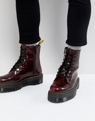 70ea777c08c Dr Martens vegan Jadon II 8-eye platform boots in red in 2019 | for ...