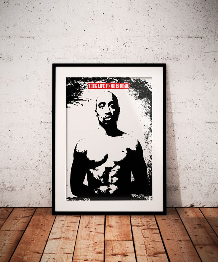 Tupac poster Printable wall art decor Instant Download