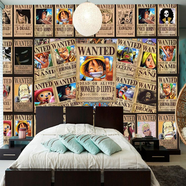 Custom Wall Mural Japanese Anime 3D Wallpaper For Walls 3D One Piece Photo  Wallpaper Kids Bedroom Part 90