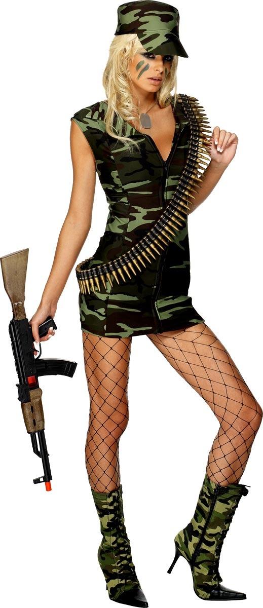Combat Army Girl Costume