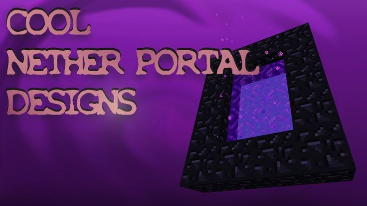 Cool Nether Portal Designs And Ideas