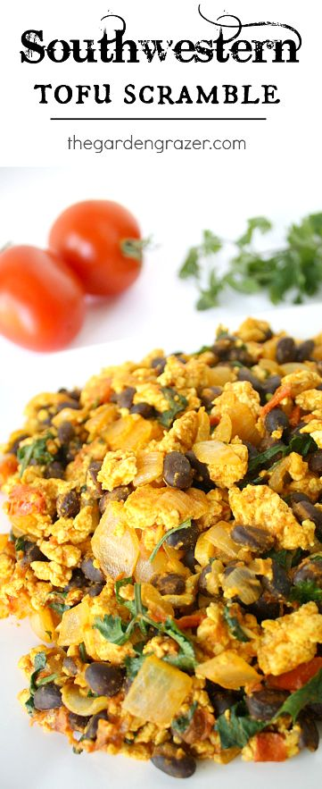 A hearty, delicious tofu scramble - southwestern style! Also great in a burrito with avocado and salsa! (vegan, gluten-free)