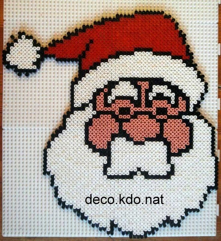 Santa Christmas hama perler beads by DECO.KDO.NAT