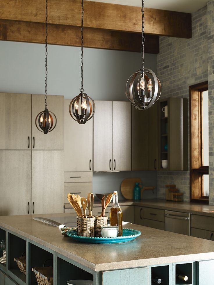 Add personality to your kitchen island with circular pendants beatify your home with new lighting ideas and styles