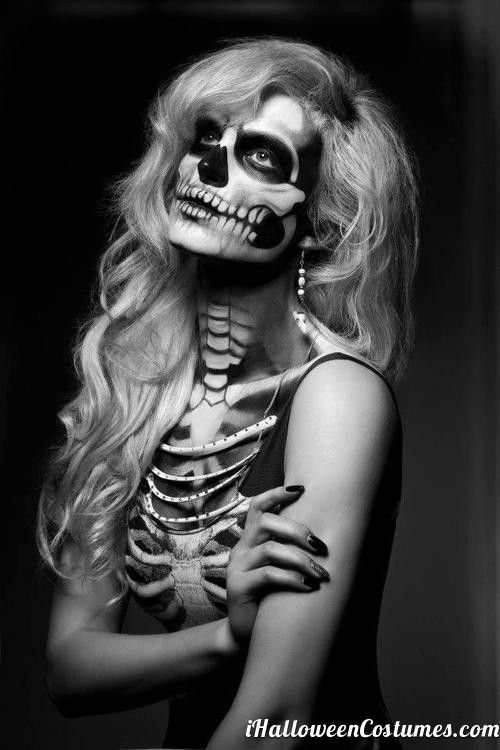 Best 25+ Skeleton Makeup Ideas On Pinterest | Halloween Skeleton Makeup Halloween Skull Makeup ...