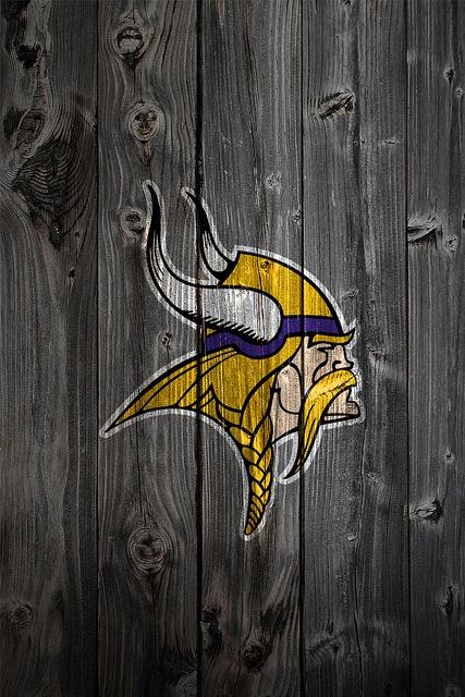 Minnesota Vikings Wood iPhone 4 Background by