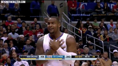 Clippers' Glen Davis Has Hilarious Reaction to Call During Game vs. Pelicans