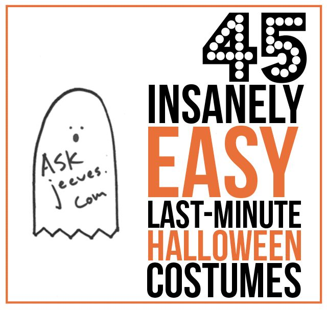 45 insanely easy last minute halloween costumes. Black Bedroom Furniture Sets. Home Design Ideas