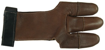 Deerskin leather archery glove, made in USA, 3 Rivers Archery
