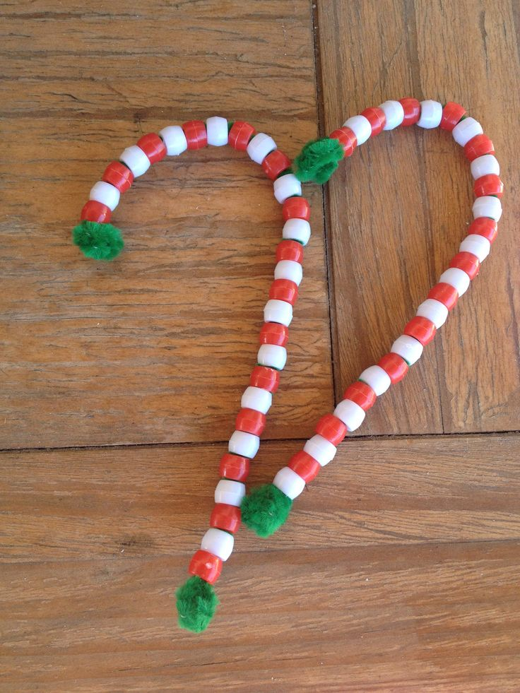 1000 images about chenille stem crafts on pinterest for Easy candy cane crafts