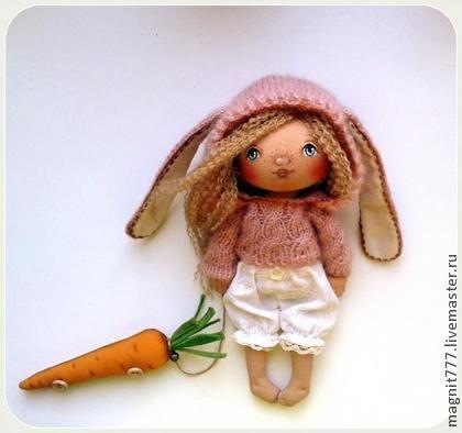 Куклы тыквоголовки ручной работы. Ярмарка Мастеров - ручная работа Ангел с Морковкой. Handmade.
