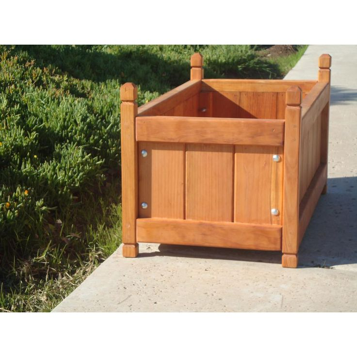 Garden 24 in. x 24 in. x 24 in. 1905 Super Deck Finished Redwood Solid Planter Box-SPBB-242424B4C1905 – Products