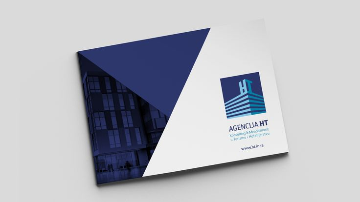 Detail of the first page for the HT Agency brochure design.