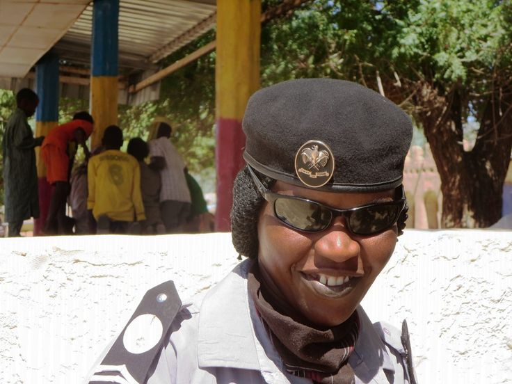 This friendly policewoman posed for a photo at Fada in northeastern Chad, Central Africa.