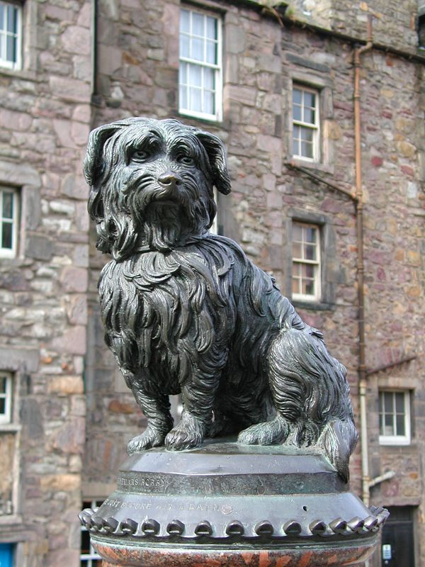 Greyfriars Bobby. A bronze statue of the terrier who guarded the grave of his master at Greyfriars Kirk for 14 years until his own death in 1872.