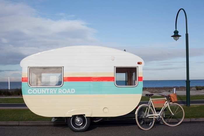 Cute retro caravan, Melbourne (Australia)
