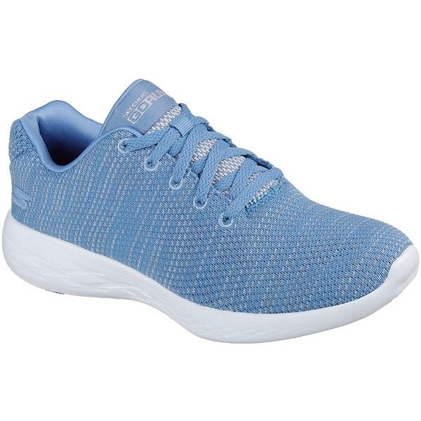 Skechers Women's Skechers Gorun - Obtain Blue 5.0 - Skechers... (210 PEN) ❤ liked on Polyvore featuring shoes, blue, skechers, skechers footwear, light weight shoes, blue color shoes and cushioned shoes