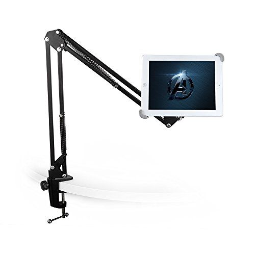 Amazon.com: TaoTronics TT-HS07 Tablet Stand Easy-lock Holder, 360 Swivel, Padded Holder, Sturdy Aluminum Arm for iPad Air Mini, Galaxy Tab and Windows, Android Tablets: Computers & Accessories